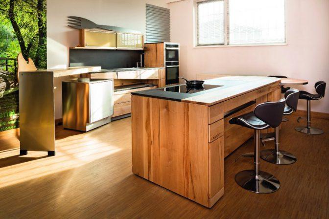 Massivholzküche aus der schreinerei pfister küchenträume bm online