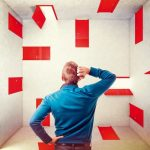 caucasian_man_and_3d_red_abstract_doors