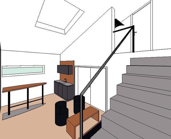 innenausbau eines funktionalen nebenraumes einer. Black Bedroom Furniture Sets. Home Design Ideas