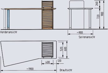 gestaltung im tischlerhandwerk folge 11 schreibm bel ii bm online. Black Bedroom Furniture Sets. Home Design Ideas