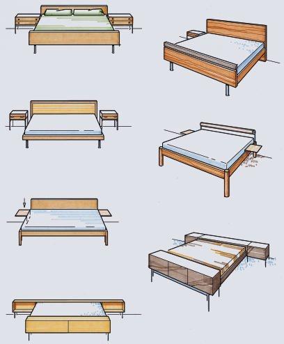 gestaltung im tischlerhandwerk folge 13 betten bm online. Black Bedroom Furniture Sets. Home Design Ideas