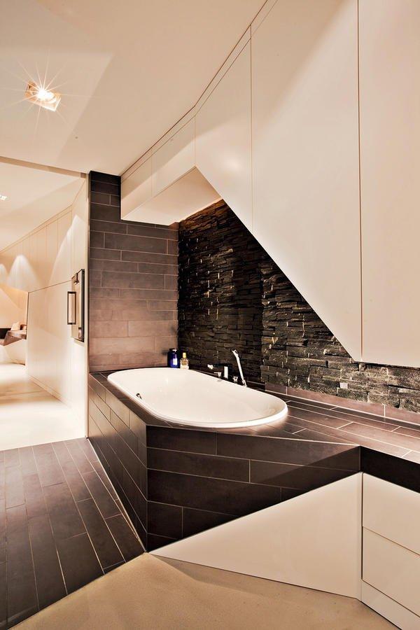 ausdrucksstarker innenausbau eines lofts in hamburg. Black Bedroom Furniture Sets. Home Design Ideas