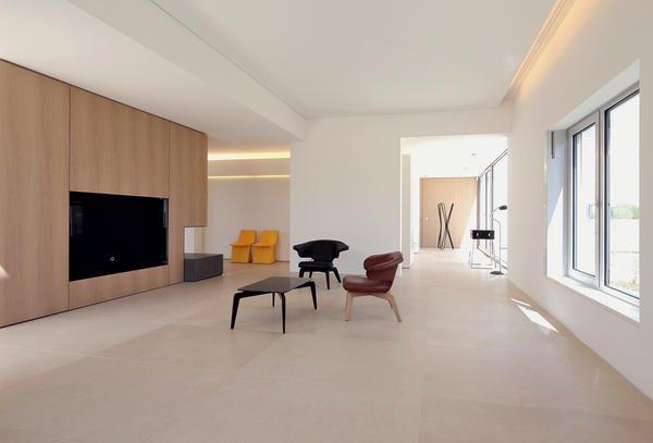 innenausbau einer penthouse wohnung in m nchen minimalistisch bm online. Black Bedroom Furniture Sets. Home Design Ideas