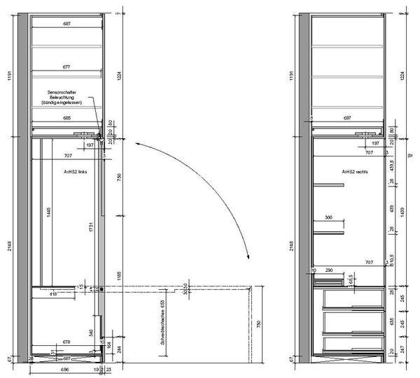 innenausbau einer penthouse wohnung in m nchen. Black Bedroom Furniture Sets. Home Design Ideas