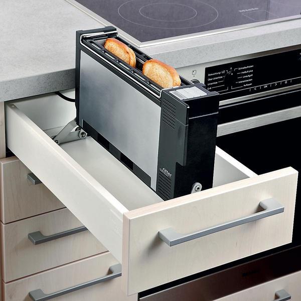 ritter toaster zum einbau in normschubladen verschwindet in der schublade bm online. Black Bedroom Furniture Sets. Home Design Ideas
