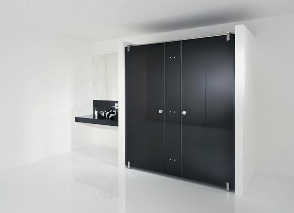 minimalistische design trennwandsysteme von sch fer farben und glas als raumkonzept bm online. Black Bedroom Furniture Sets. Home Design Ideas