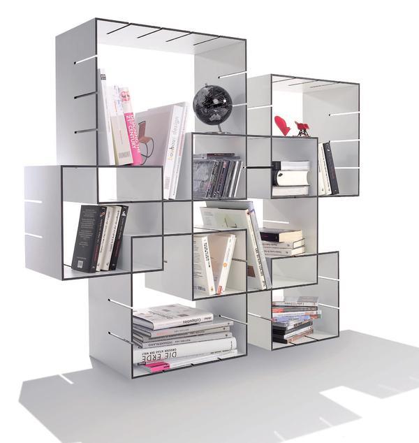 designpreis f r m ller m belwerkst tten konnex ein regal mit vielen gesichtern bm online. Black Bedroom Furniture Sets. Home Design Ideas