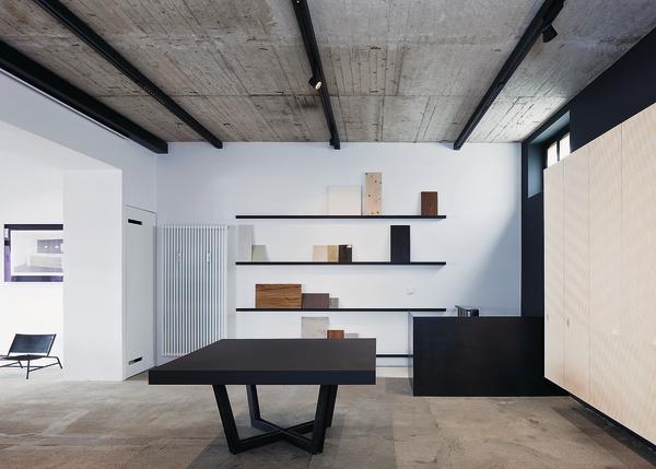 musterraum und planungsb ro einer schreinerei in m nchen. Black Bedroom Furniture Sets. Home Design Ideas