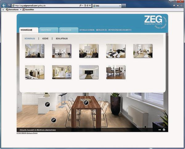 zeg profi raumdesign f r jedermann virtuelles interieur f r raumdesigner bm online. Black Bedroom Furniture Sets. Home Design Ideas