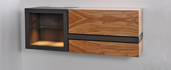 meisterst ck in olivenholz imi beton und glas eingefasst in holz bm online. Black Bedroom Furniture Sets. Home Design Ideas