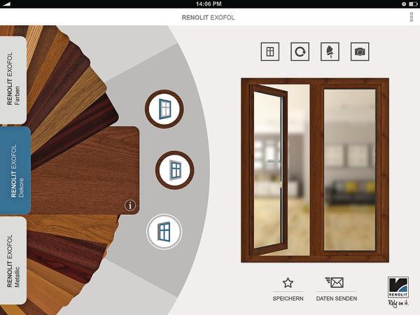Renolit Exofol App bietet virtuelle Farbkombinationen. Mit Farben ...