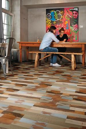 windm ller stellt eine neue designboden kollektion vor zum kleben oder einfach zum klicken bm. Black Bedroom Furniture Sets. Home Design Ideas