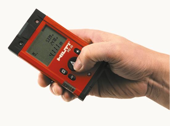 Hilti: brandneues laser distanzmessgerät. hightech im pocket format