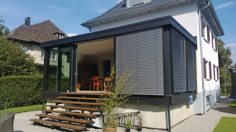 finstral bietet zwei neue wintergartensysteme schmale. Black Bedroom Furniture Sets. Home Design Ideas
