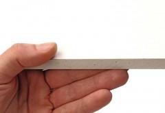 Wie Sie sehen, sehen Sie nichts: Das Comfortboard von Knauf gleicht optisch einer normalen Gipskartonplatte, aber sie hat es in sich.