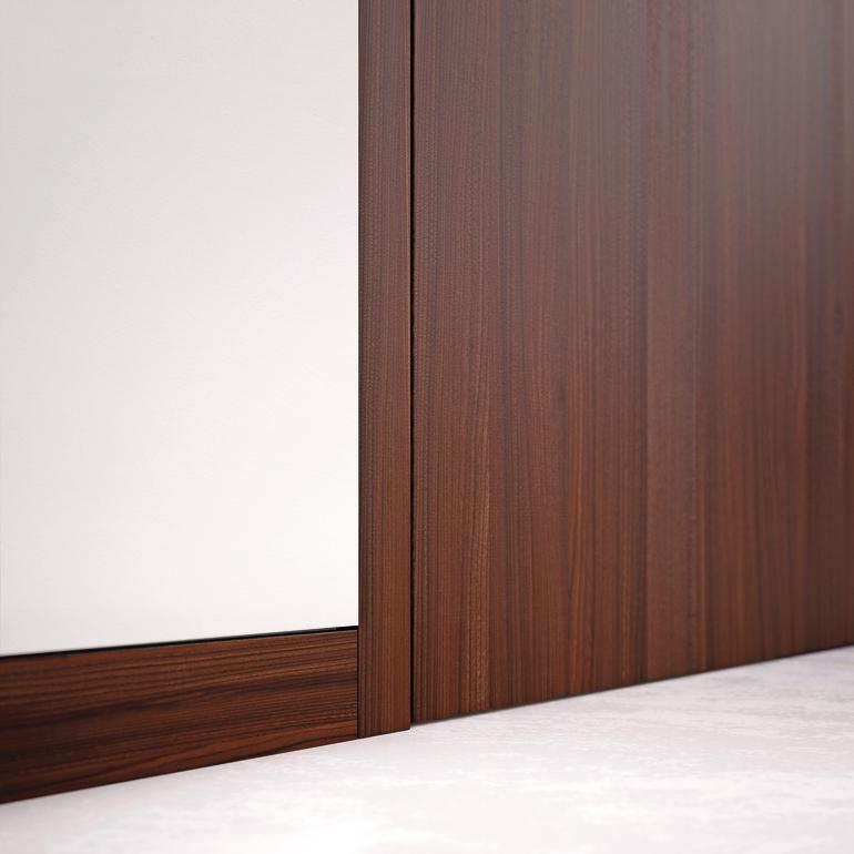 Wandbündige Sockelleisten innentüren sind angesagte gestaltungselemente minimalismus mit