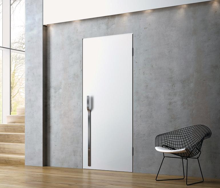 jeld wen stellt t r mit 45 falz vor mit der wand verschmolzen bm online. Black Bedroom Furniture Sets. Home Design Ideas
