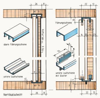 schiebet ren im m bel und innenausbau teil 1 auf rollen. Black Bedroom Furniture Sets. Home Design Ideas
