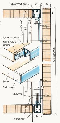 schiebet ren im m bel und innenausbau teil 1 auf rollen und gleitern bm online. Black Bedroom Furniture Sets. Home Design Ideas