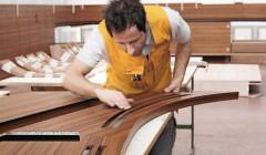 Komplexe CNC-Teile wie diese Holz-Aluminium-Sandwichkonstruktion waren bei dem Yachtinnenausbau zu bewältigen. Fotos: Dittmar Siebert (3), Höller (4)