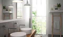 Die neue Waschbecken-Kollektion ist in den Farbtönen Alpine White und Nougat Cream erhältlich.