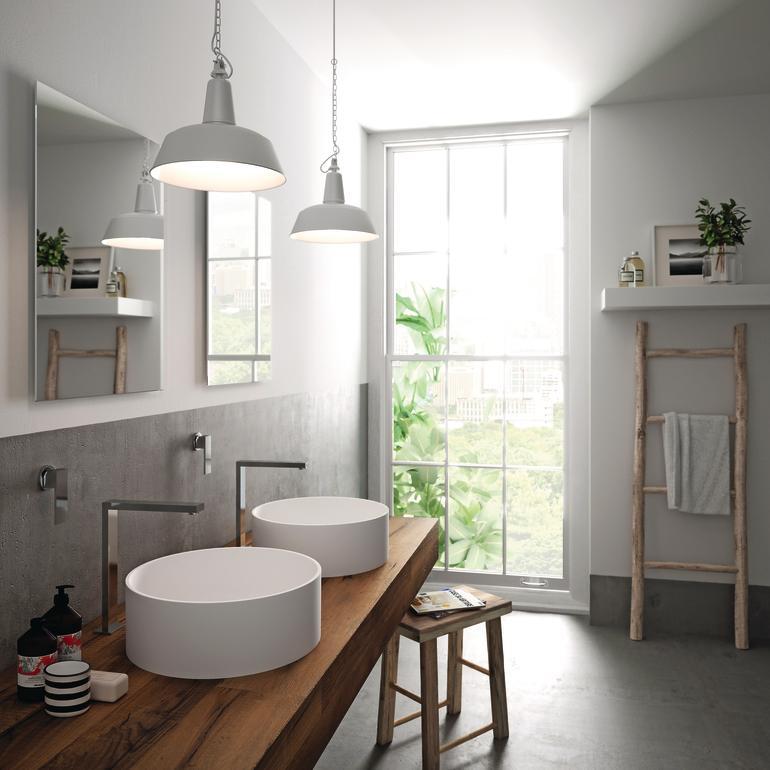 Hi macs f hrt drei neue waschbecken ein passend zu jedem for Neues bad design