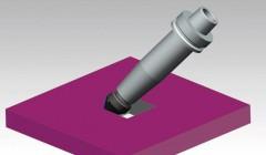 Der V-Nutförmige Folding-Fräser mit einem langem Spannmittel, fräst gestochen scharfe 90°-Ecken.