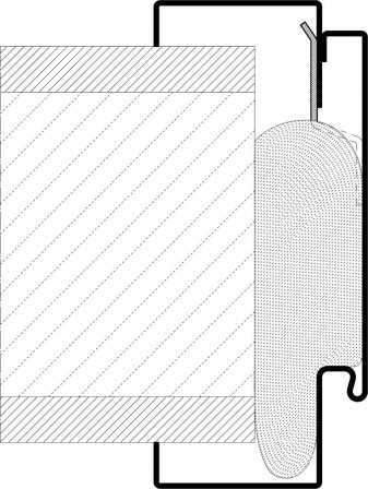 neue stahlfutterzarge von h rmann gleicht wandtoleranzen aus montageprinzip wie bei einer. Black Bedroom Furniture Sets. Home Design Ideas
