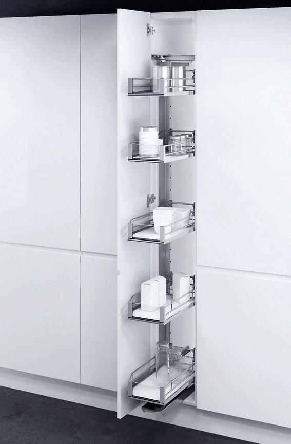 vauth sagel erweitert angebot an hochschrankausz gen stauraum f r schmale vorratsschr nke bm. Black Bedroom Furniture Sets. Home Design Ideas