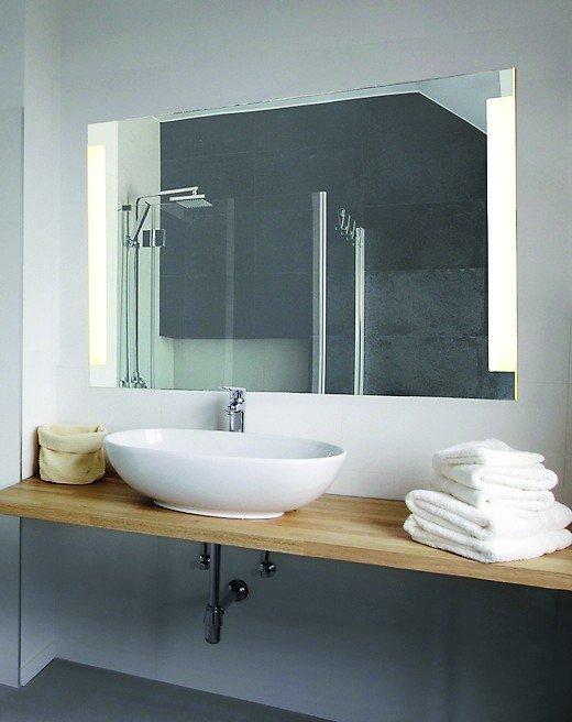 sprinz bietet spiegel mit led hinterleuchtung dezente lichtf hrung bm online. Black Bedroom Furniture Sets. Home Design Ideas