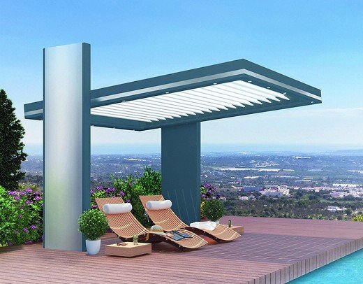 profine baut zubeh r und handelswarenprogramm aus pergola set mit 16 modellvarianten bm online. Black Bedroom Furniture Sets. Home Design Ideas