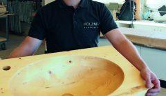 Tobias Locher(32) ist mit seiner Holzart-Schreinerei  auf einem sehr guten Kurs.