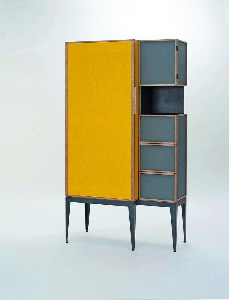 meisterst ck in eiche mdf linoleum und stoff feines fl chenspiel bm online. Black Bedroom Furniture Sets. Home Design Ideas