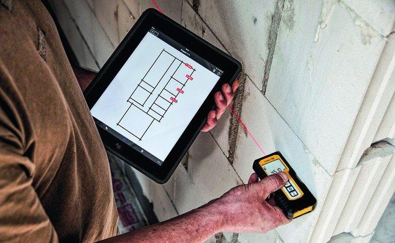 Stabila bietet app als ergänzung für lasermessgeräte. messwerte