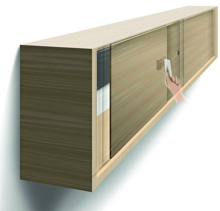 ps gmbh liefert elektronisches schloss f r schiebet ren. Black Bedroom Furniture Sets. Home Design Ideas