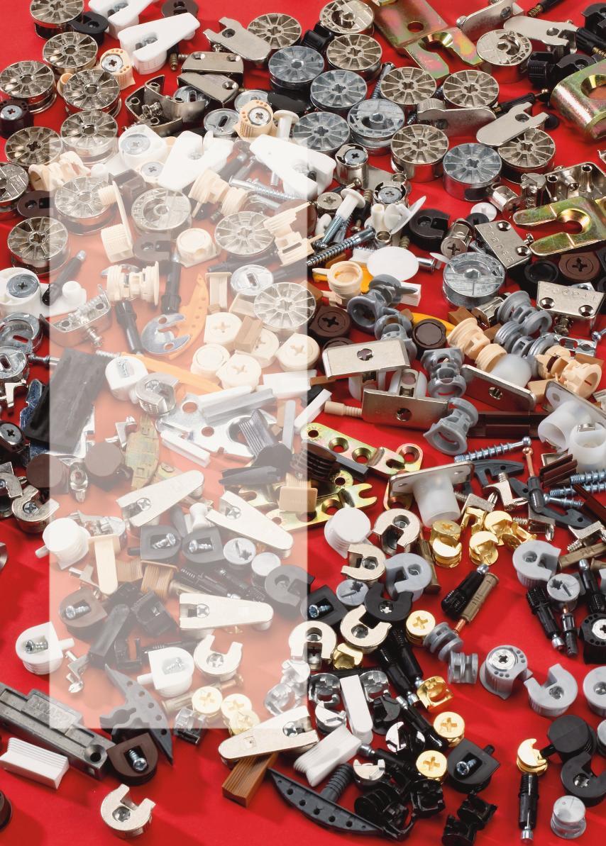 Verbindungsbeschläge machen große Möbel zerlegbar. Auf dem Markt gibt es viel verschiedene Systeme für Schreiner und Tischler.