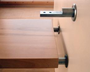neu entwickelte wandbolzen f r wangenfreie treppen bm. Black Bedroom Furniture Sets. Home Design Ideas