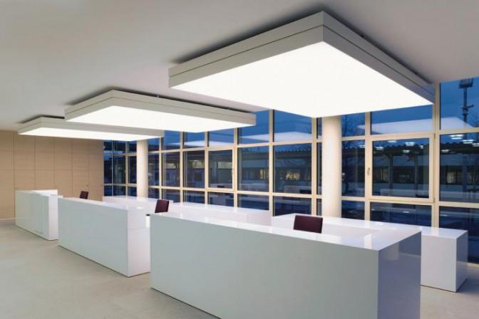 Innenausbau eines neuen verwaltungsgeb udes in crailsheim for Garderobe mit paneelen