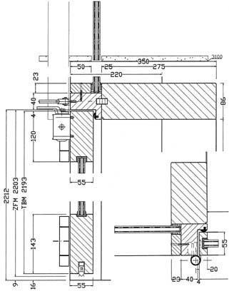 Tür vertikalschnitt  Transparenter Brandschutz - BM online