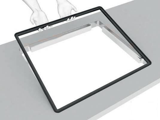 kochfelder und sp len fl chenb ndig in arbeitsplatten einlassen glatt und eben bm online. Black Bedroom Furniture Sets. Home Design Ideas