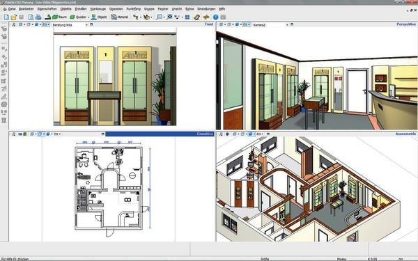 Cad software f r m bel und innenausbauer alle programme for Raum planung software
