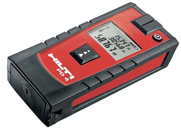 Hilti: neues laser distanzmessgerät pd 4. kompakt und unkaputtbar