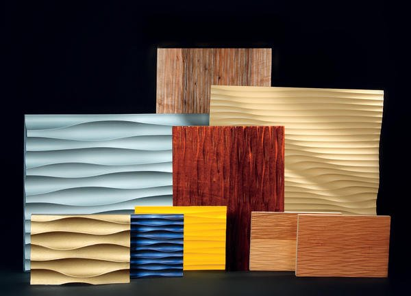 freund gmbh bietet strukturplatten in vielen varianten 3 d oberfl chen werden lackierfreundlich. Black Bedroom Furniture Sets. Home Design Ideas