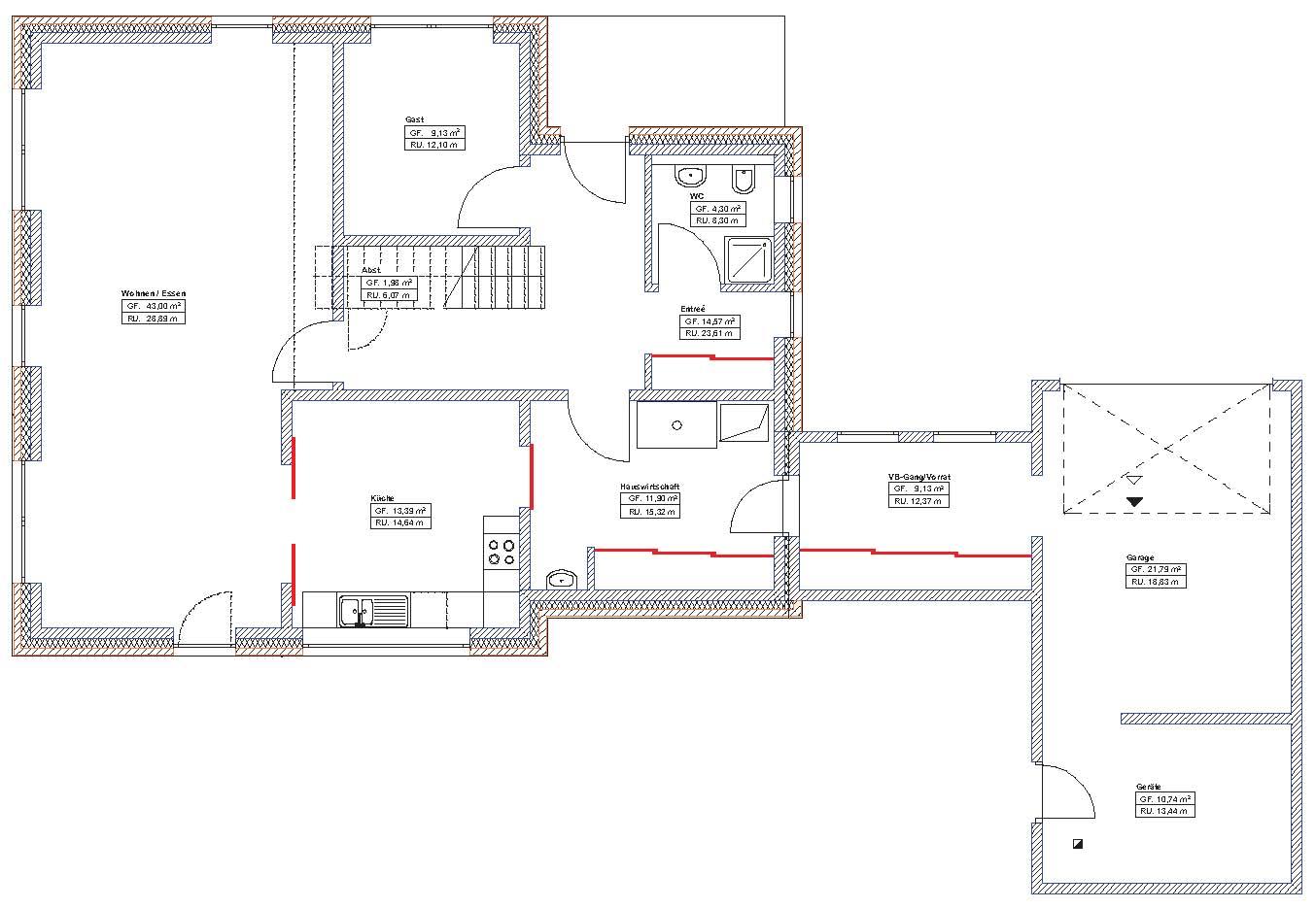 Trennende und verbindende elemente unserer zeit for Haus mit plan