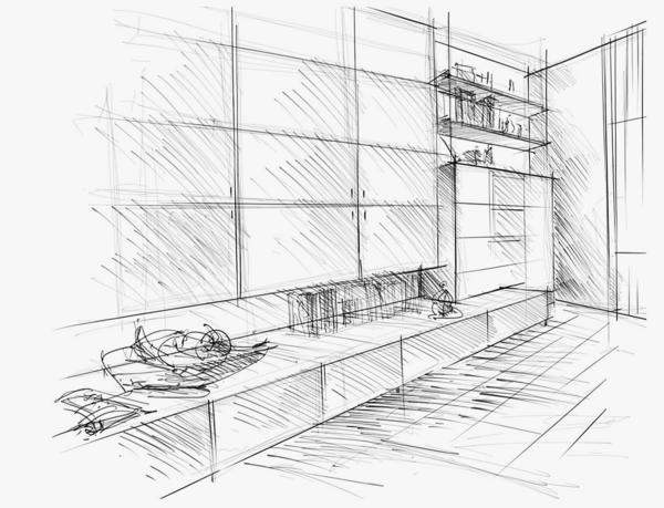 Innenarchitektur zeichnen lernen  Zeichnen und präsentieren lernen – Kunden begeistern. Auch ...