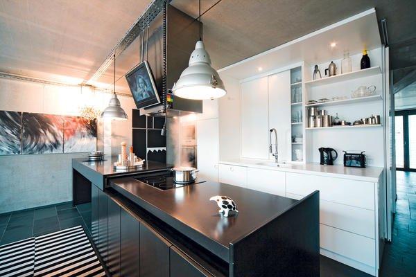 k chen vom schreiner spiel mit kontrasten bm online. Black Bedroom Furniture Sets. Home Design Ideas