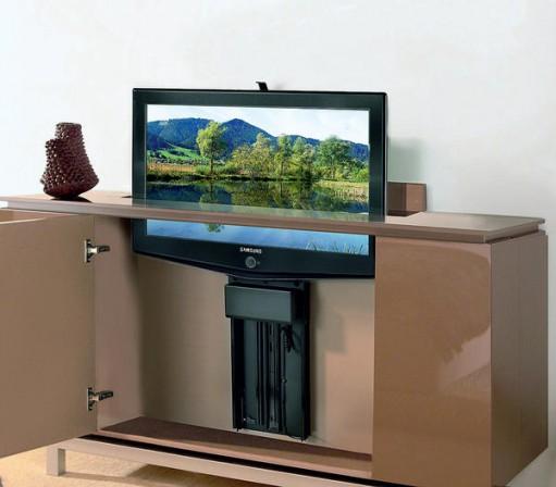 m bel unter strom teil 3 flachbildschirme in bewegung bm online. Black Bedroom Furniture Sets. Home Design Ideas