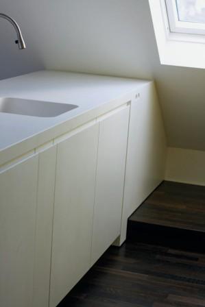 flie endes design k che de luxe aus hochwertigem mineralwerkstoff das ergebnis klein fein. Black Bedroom Furniture Sets. Home Design Ideas