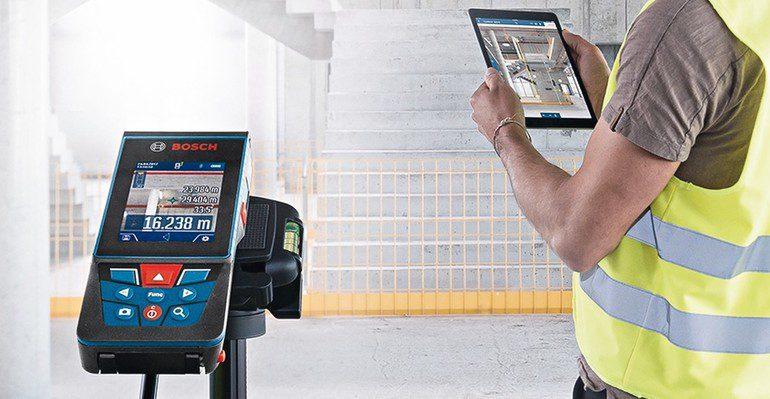 Bosch stellt seinen ersten laser entfernungsmesser mit kamera vor