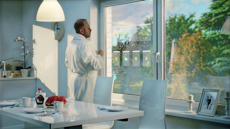 drutex pr sentiert interaktives fenster fenster fernseher und tablet in einem bm online. Black Bedroom Furniture Sets. Home Design Ideas